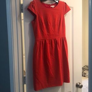 Orange Shoshanna tulip dress